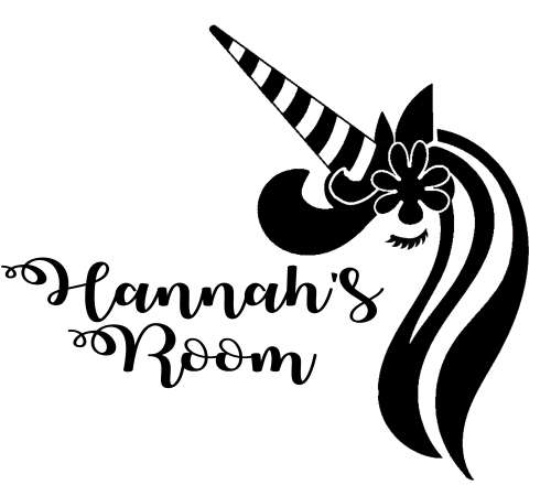Unicorn Bedroom Door Wall Decal Hannah Simply Create