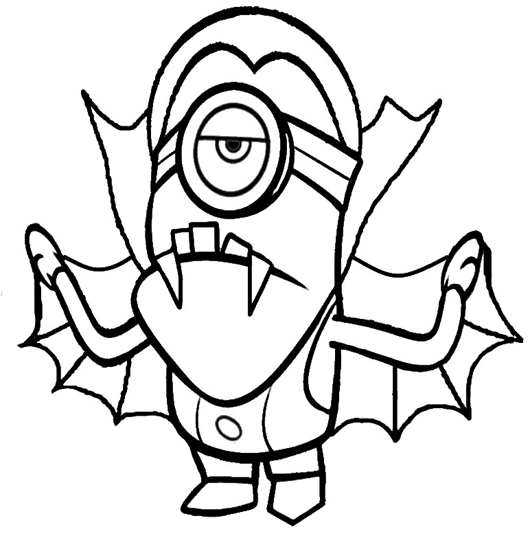 minion coloring pages halloween goblin - photo#3